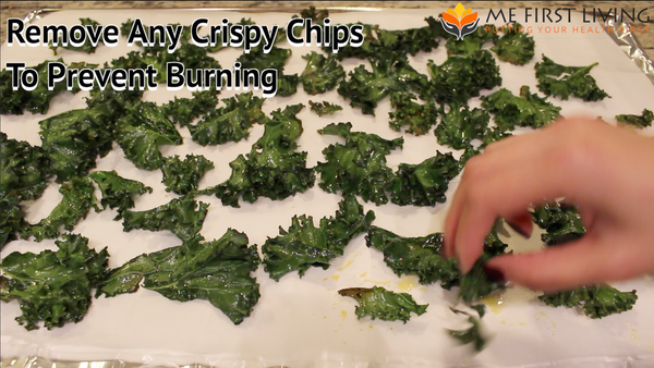 Remove Dry, Crispy, or browning Kale Chips