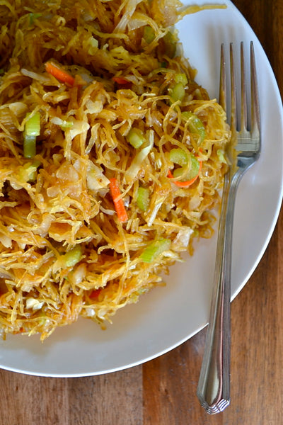 Healthy Spaghetti Squash Chow Mein Lo Mein Chinese Noodles