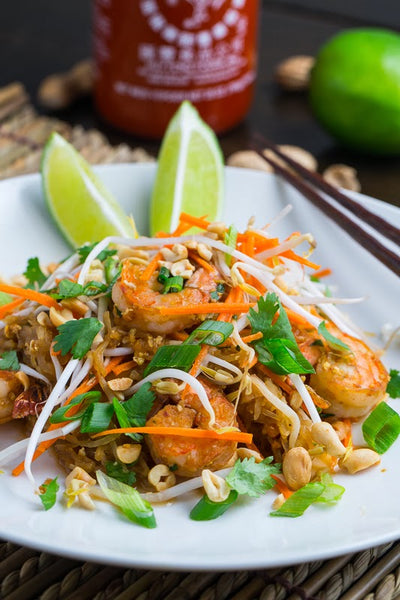 Shrimp Pad Thai with Spaghetti Squash Noodles