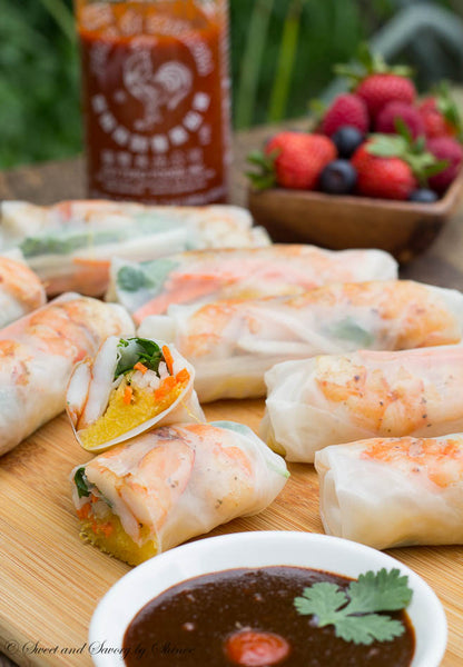 Shrimp Spring Rolls with Spaghetti Squash