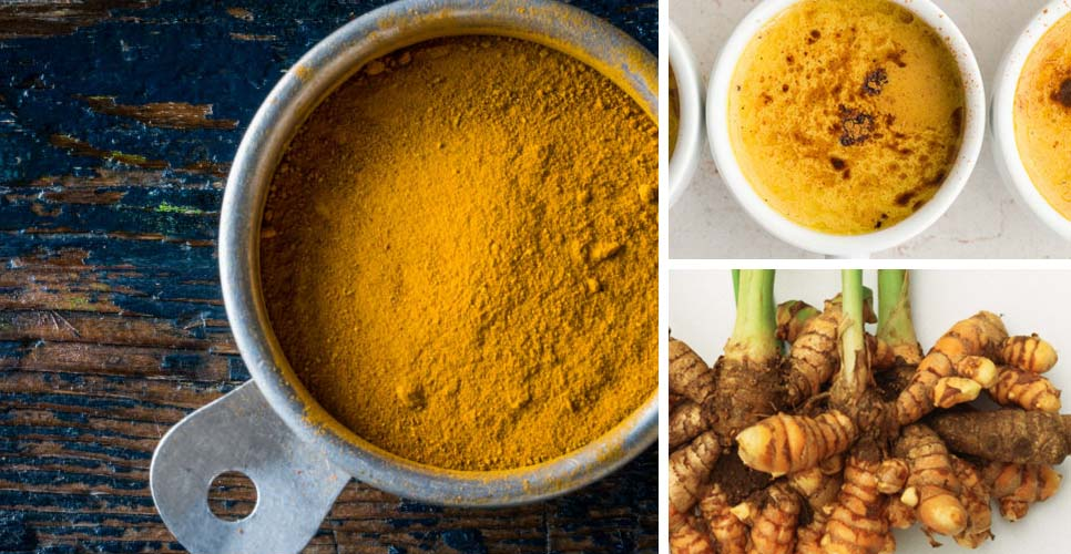 Turmeric bowl root tea