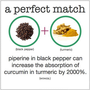 black pepper and turmeric