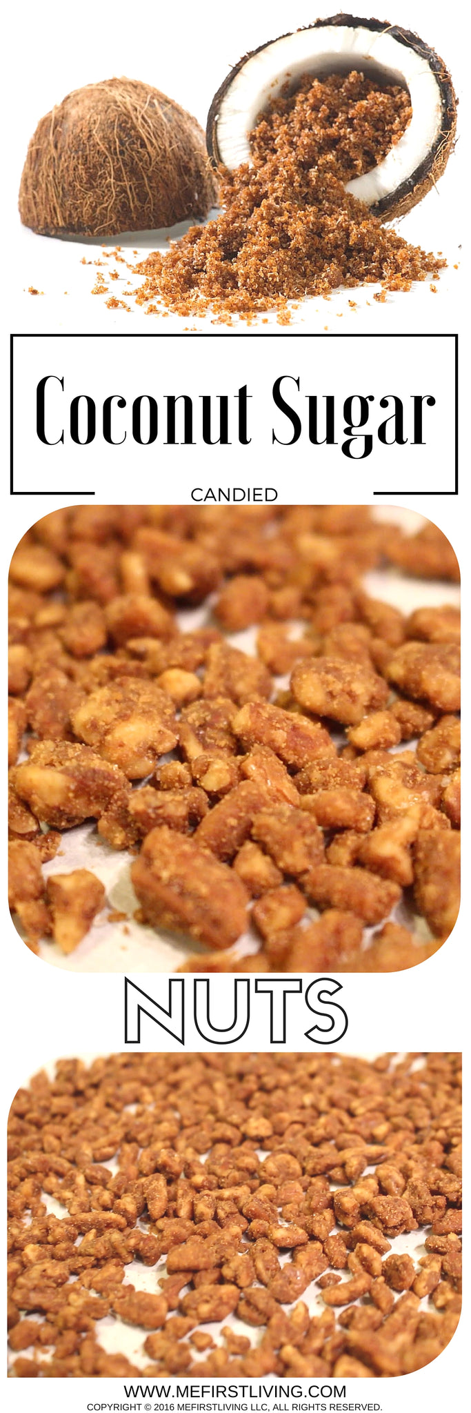candied coconut sugar glazed pecan nuts