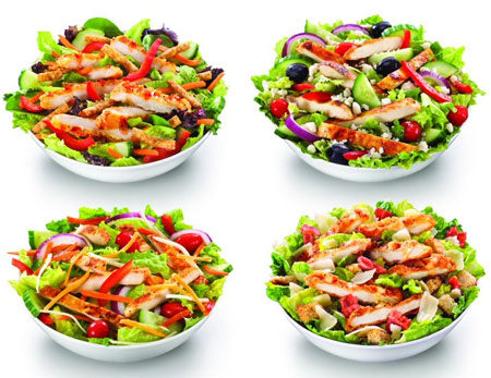 Healthy Fast Food Choices Mcdonald salad