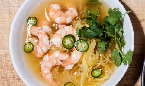 Lemongrass Shrimp Soup with Spaghetti Squash Noodles