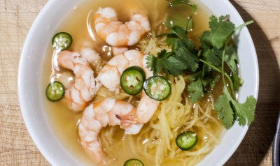 spaghetti squash lemon grass shrimp soup
