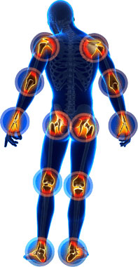 joint pain locations on body