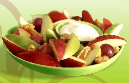 Healthy Fast Food Options Apple Walnut Salad