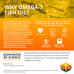 Me First Living Omega 3 Fish Oil, 2000MG Omega 3, 800MG EPA, 400MG DHA, Heart Health, No Fish Aftertaste, 60 Capsules