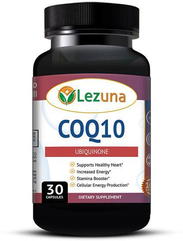 Lezuna CoQ10 Ubiquinone Supplement, High Potency 200 mg, Heart Health, Antioxidant, High Absorption Co Q-10 Enzyme  - 30 Capsules