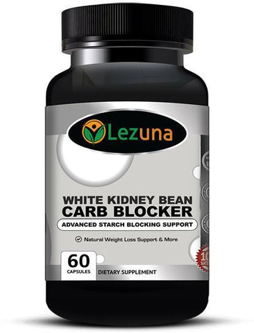 Lezuna White Kidney Bean Extract Carb Blocker with Clinically Proven Phase 2® Carb Controller 1000 mg - 60 Capsules