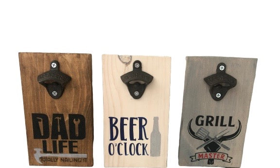 Wood Stencil Bottle Opener Kit
