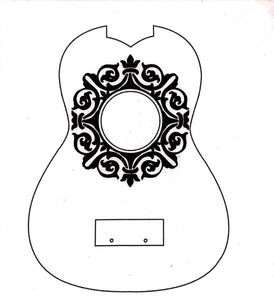 Fancy Hole Ukulele Stencil