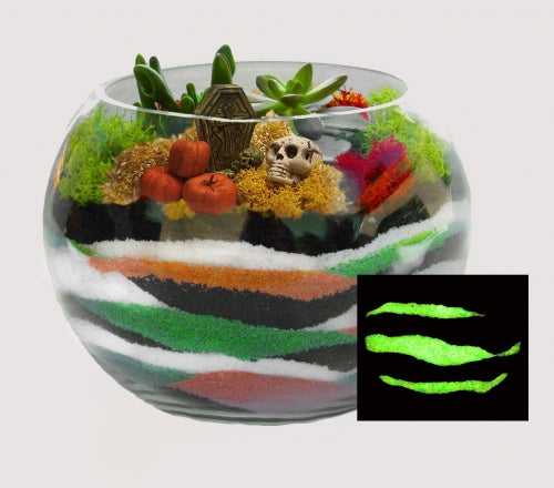 DIY Glow in the dark Sand Art Planter Kit