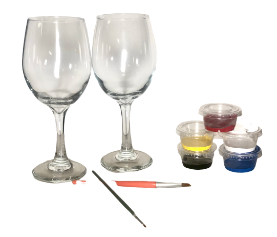 Weiss Wine Glass Kit with Brushes