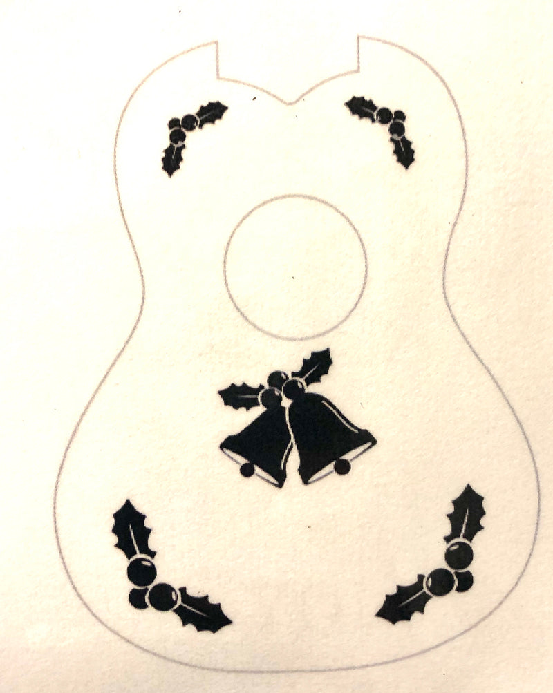 Bell and Holly Ukulele Stencil