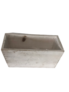 Rectangle tapered wooden planter