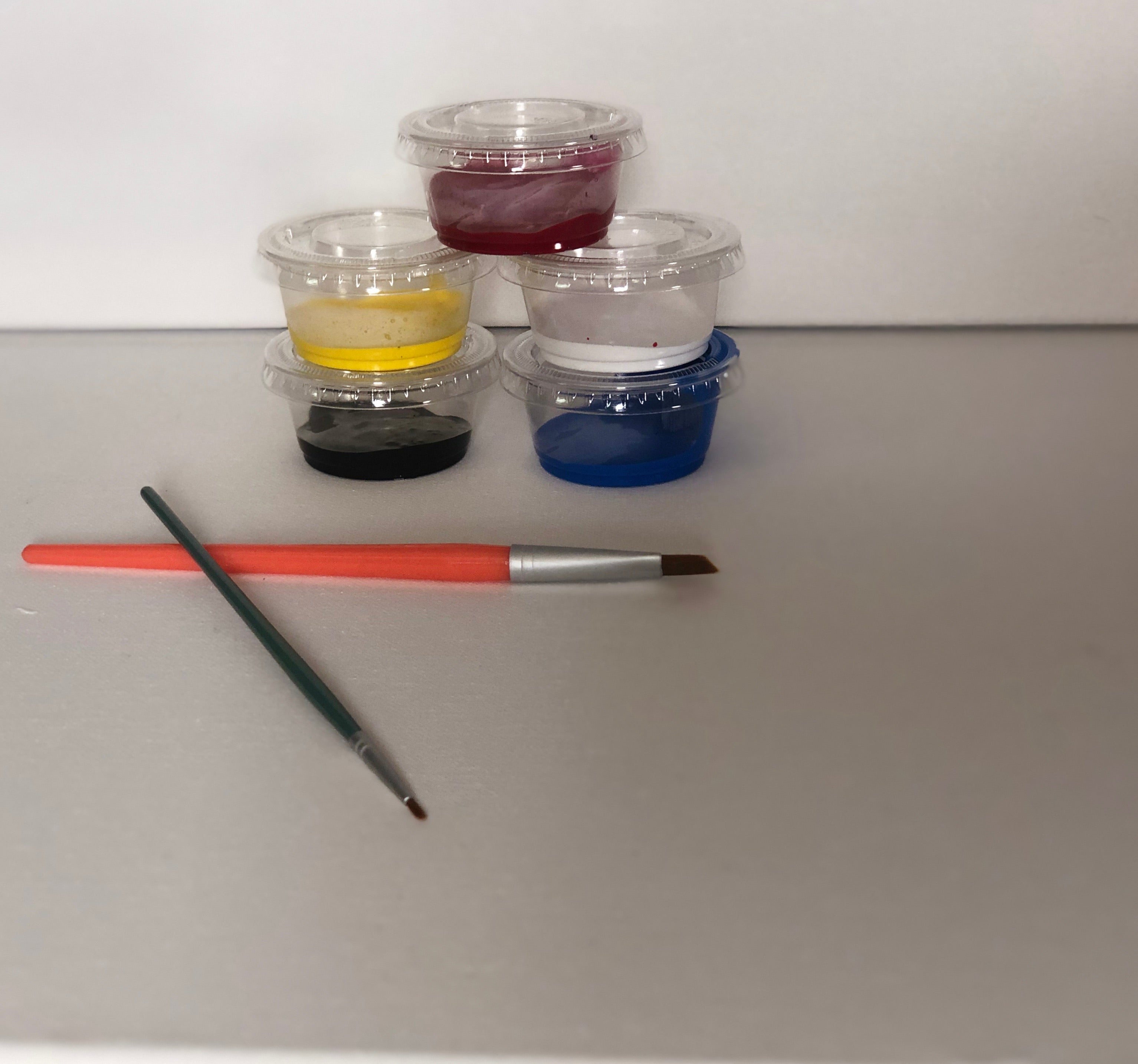 Gloss Enamel Paint & Brush Set for Wine Bottle Painting
