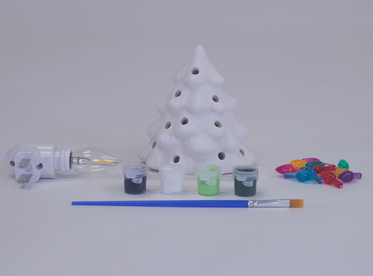 DIY Ceramic Christmas Tree Light