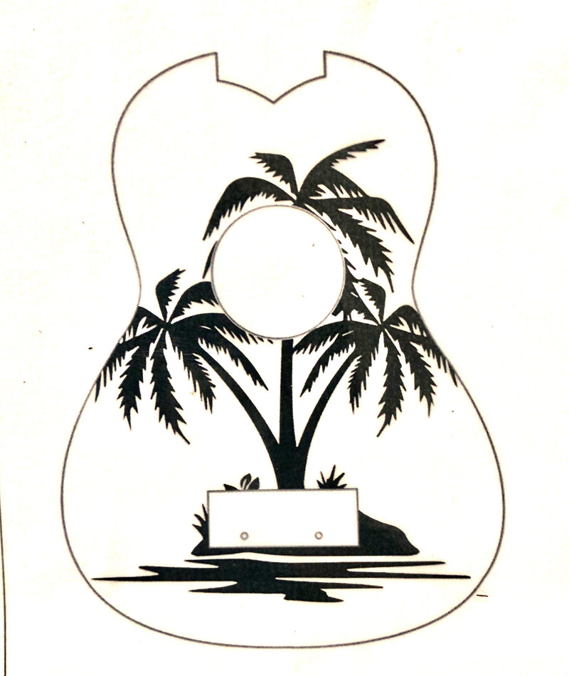 Palm Tree Ukulele Stencil