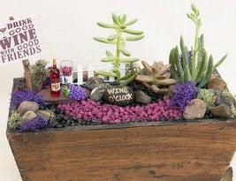 Wine  Garden Planter Kit