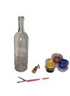 Clear Wine Bottle Painting Kit