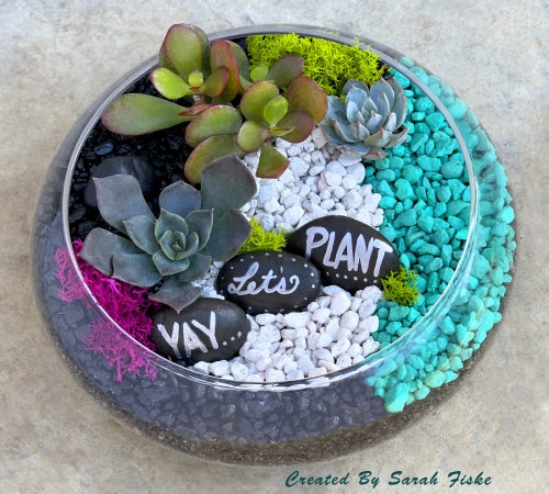 Custom Lily Bowl Terrarium  for Linked In