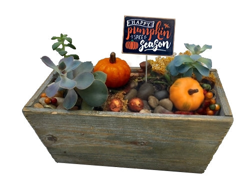 Pumpkin Patch Wooden Planter