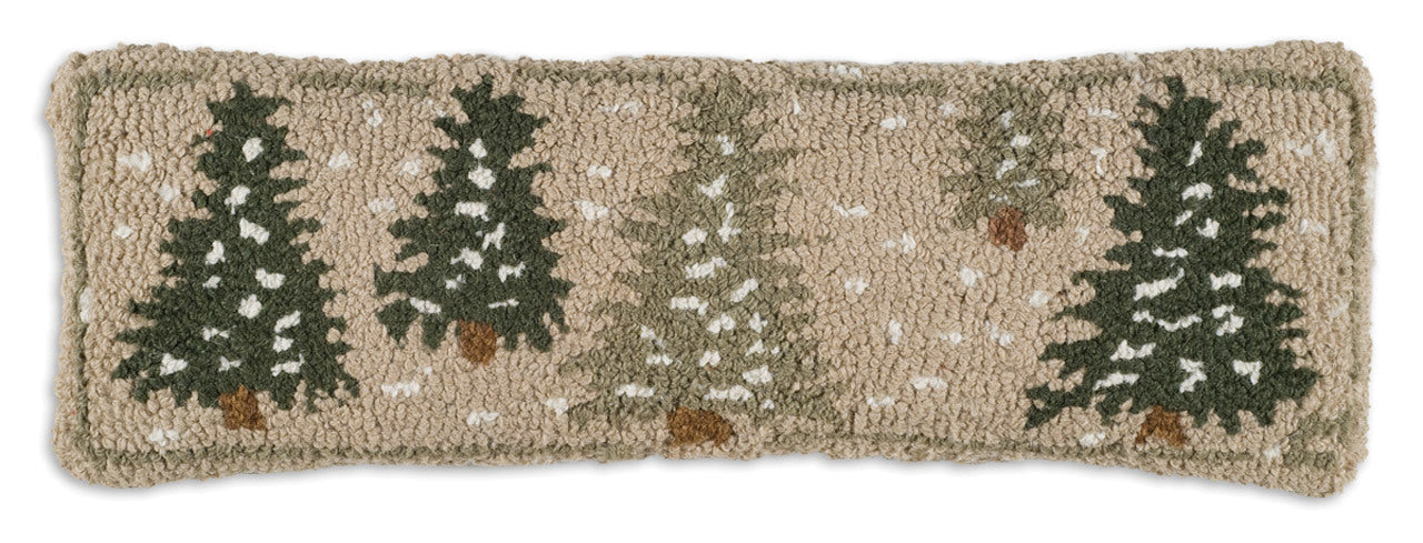 Frosted Tree Wool Pillow