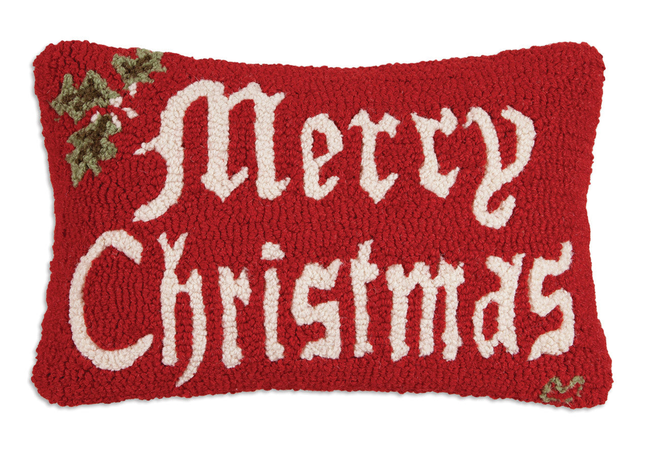 Merry Christmas Wool Pillow
