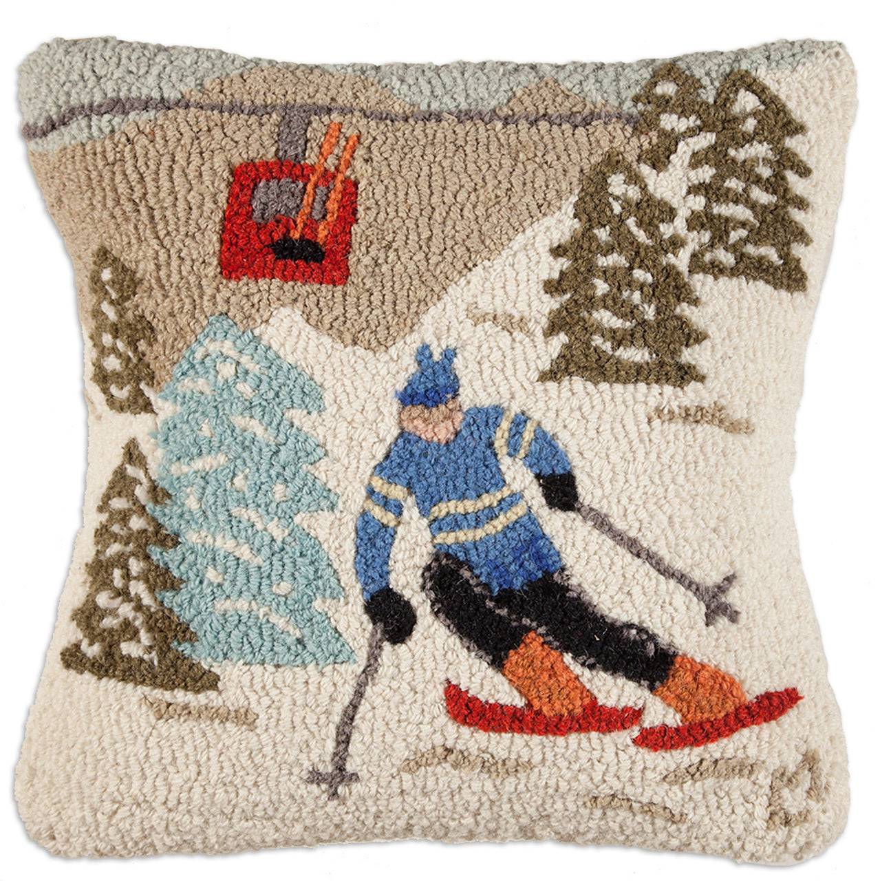 Gondola Run Wool Pillow