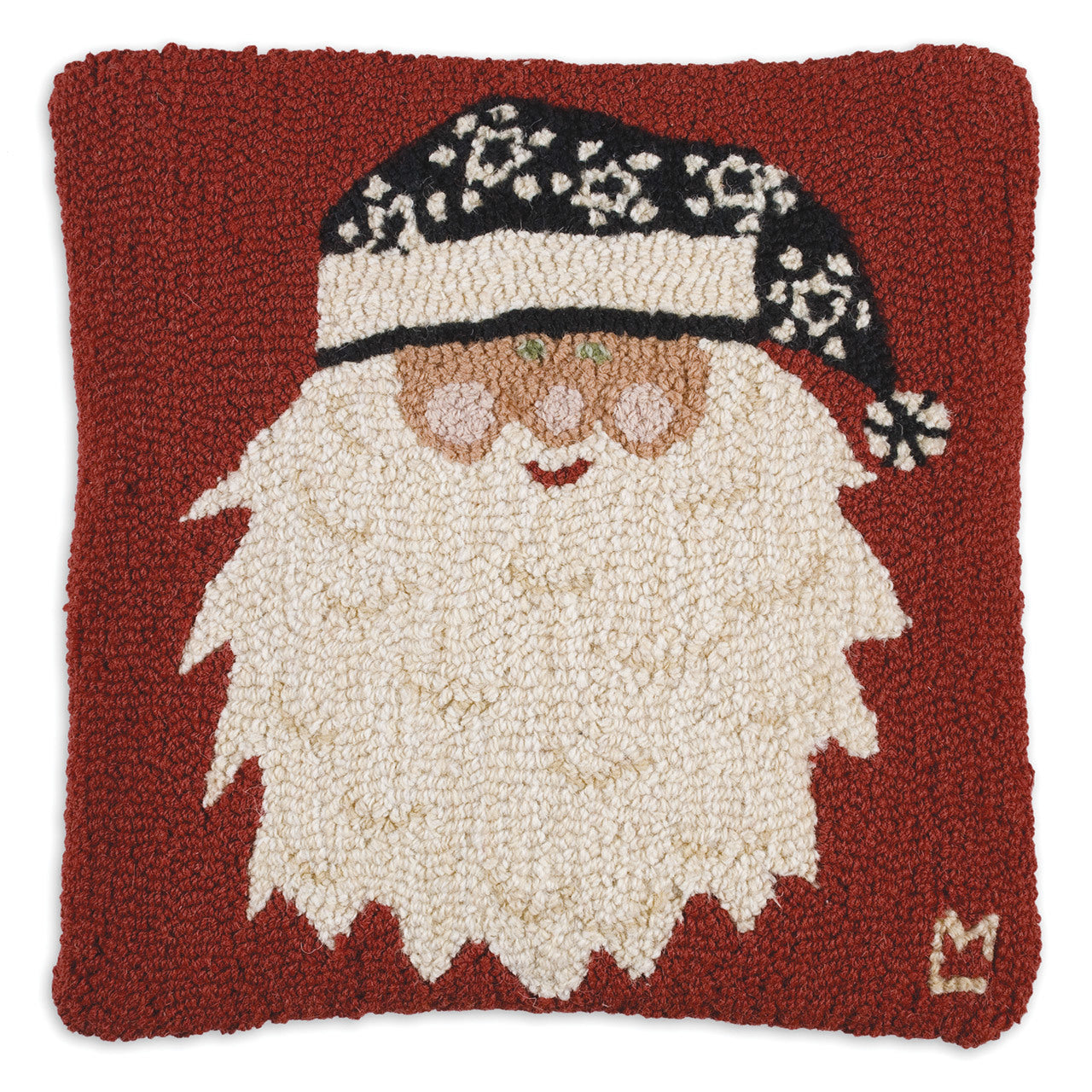Santa's New Hat Wool Pillow