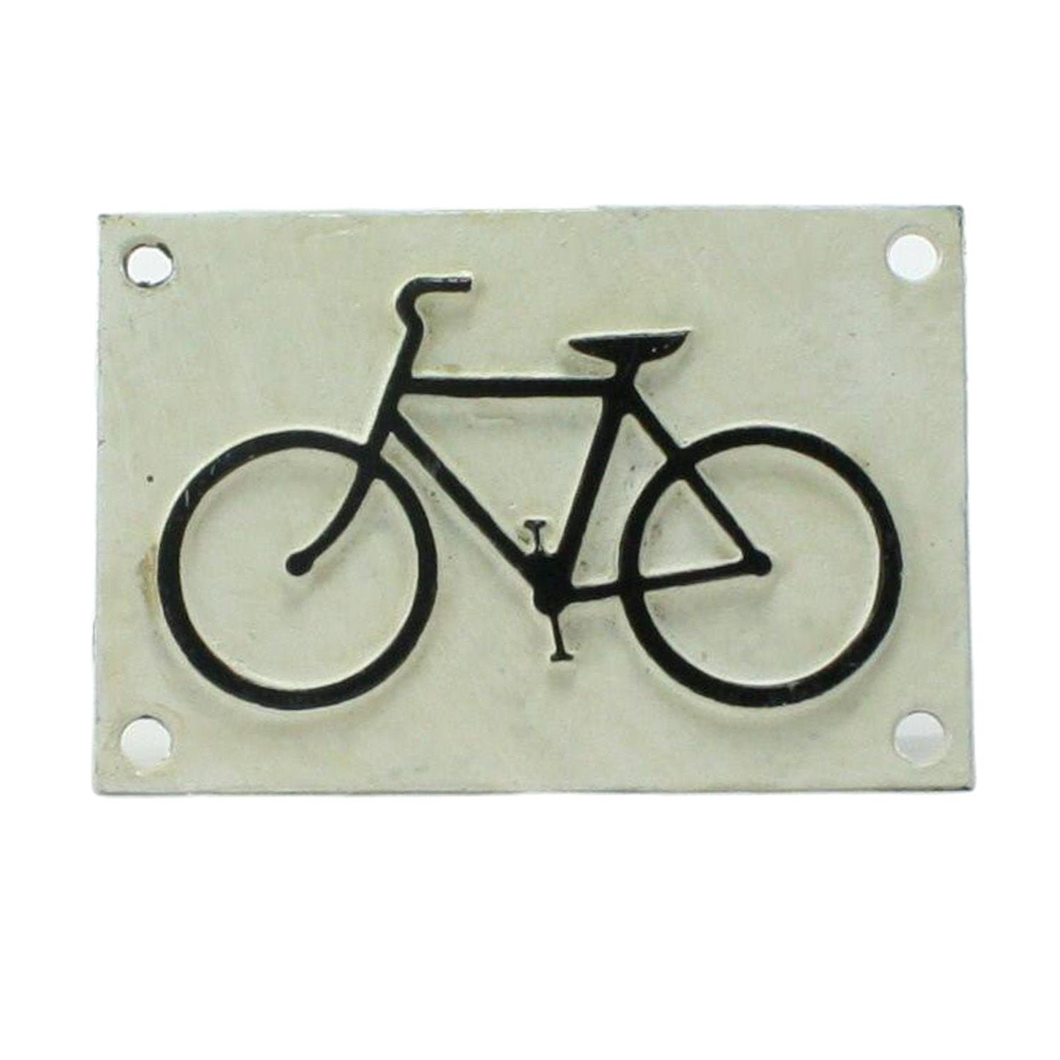 Bike Cast Iron Sign