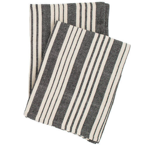 Black Stripe Throw