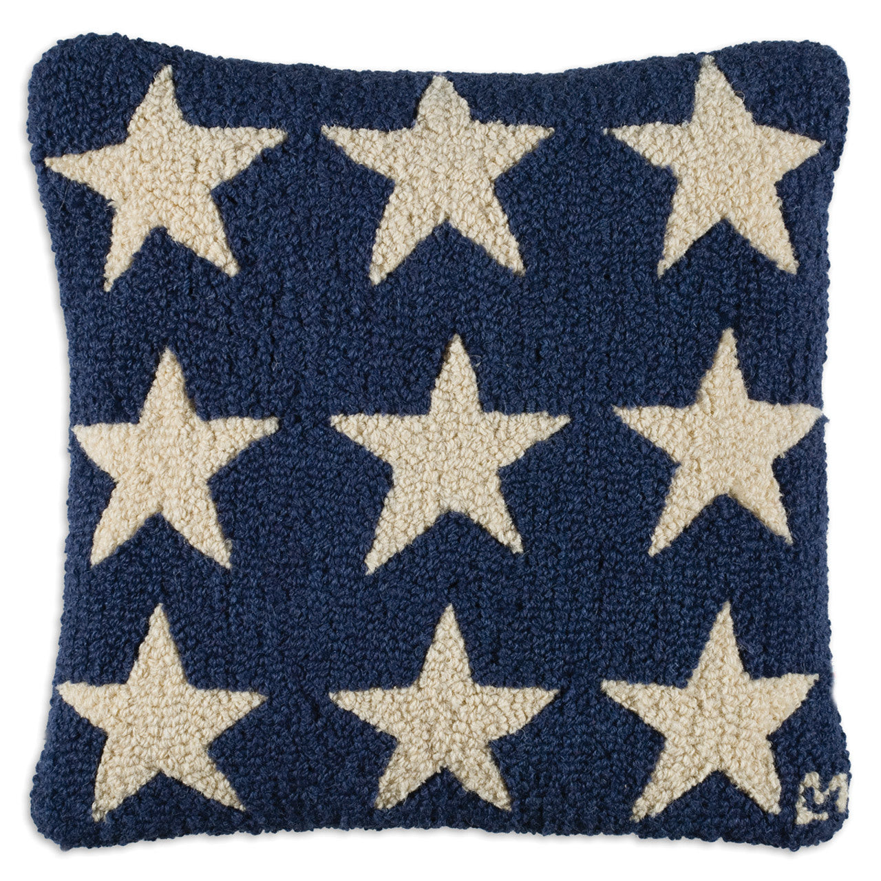 Blue Fire Stars Wool Pillow