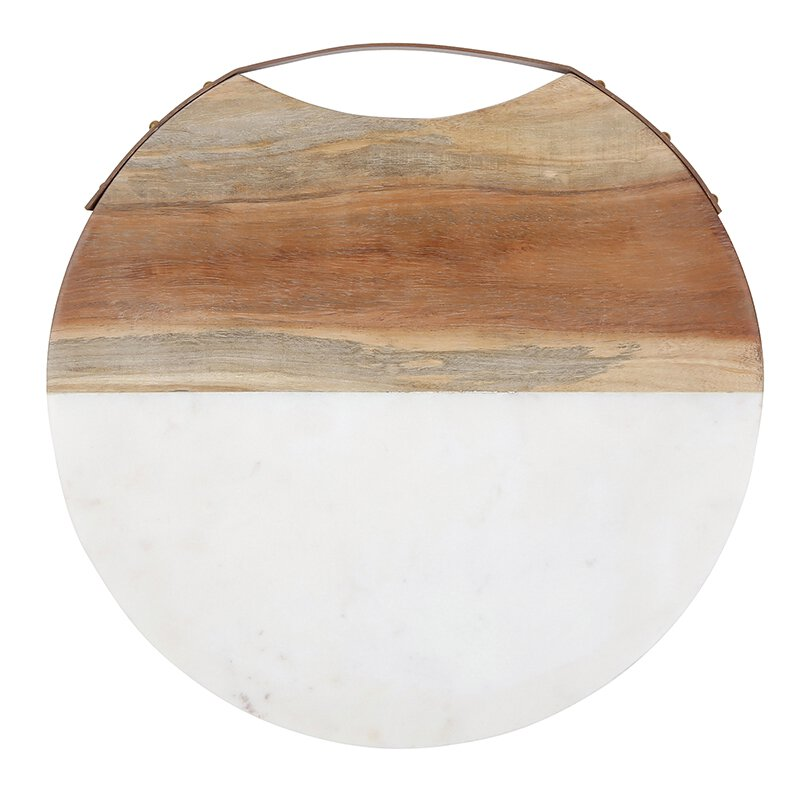 Acacia Wood + Marble Cheese Board