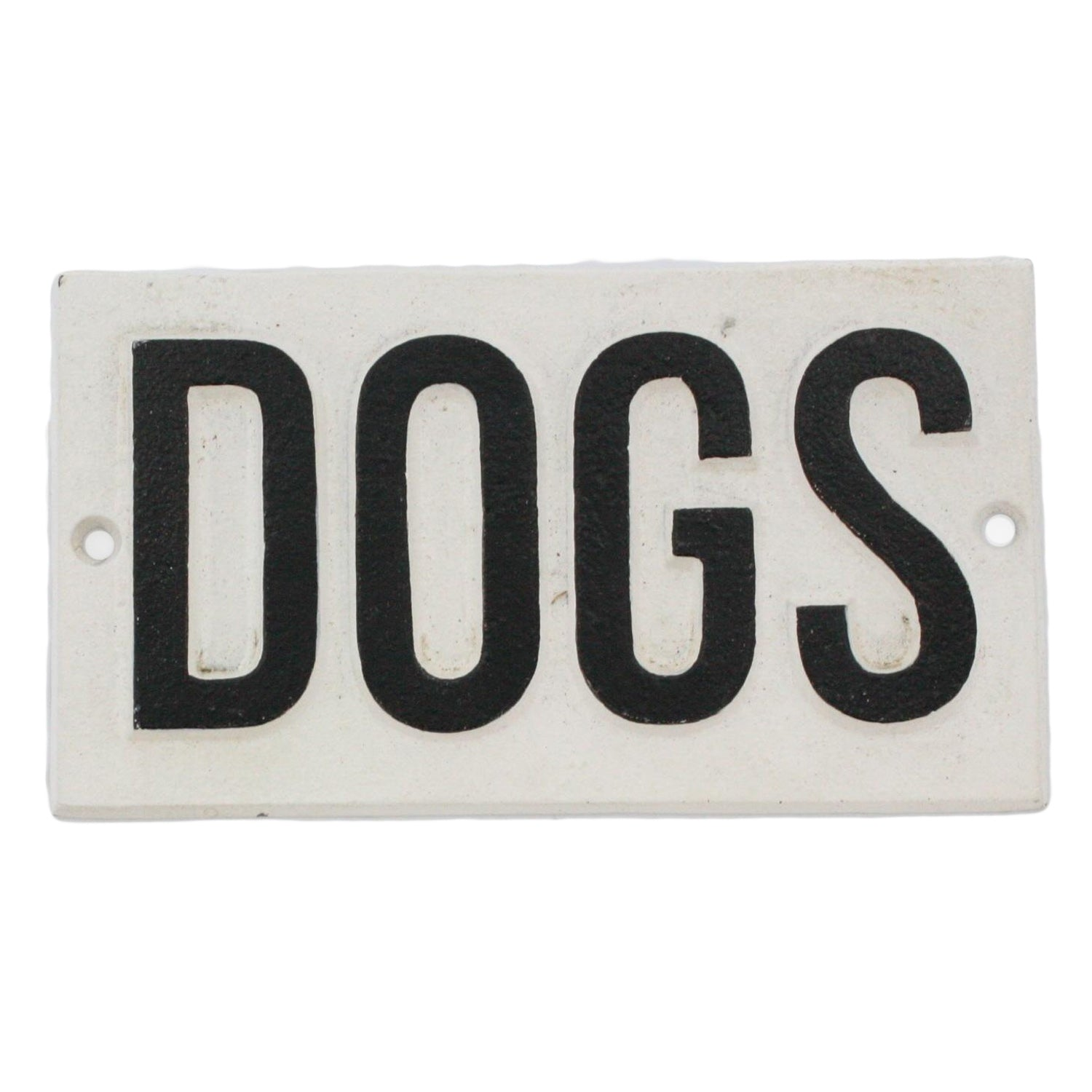 Dogs Cast Iron Sign