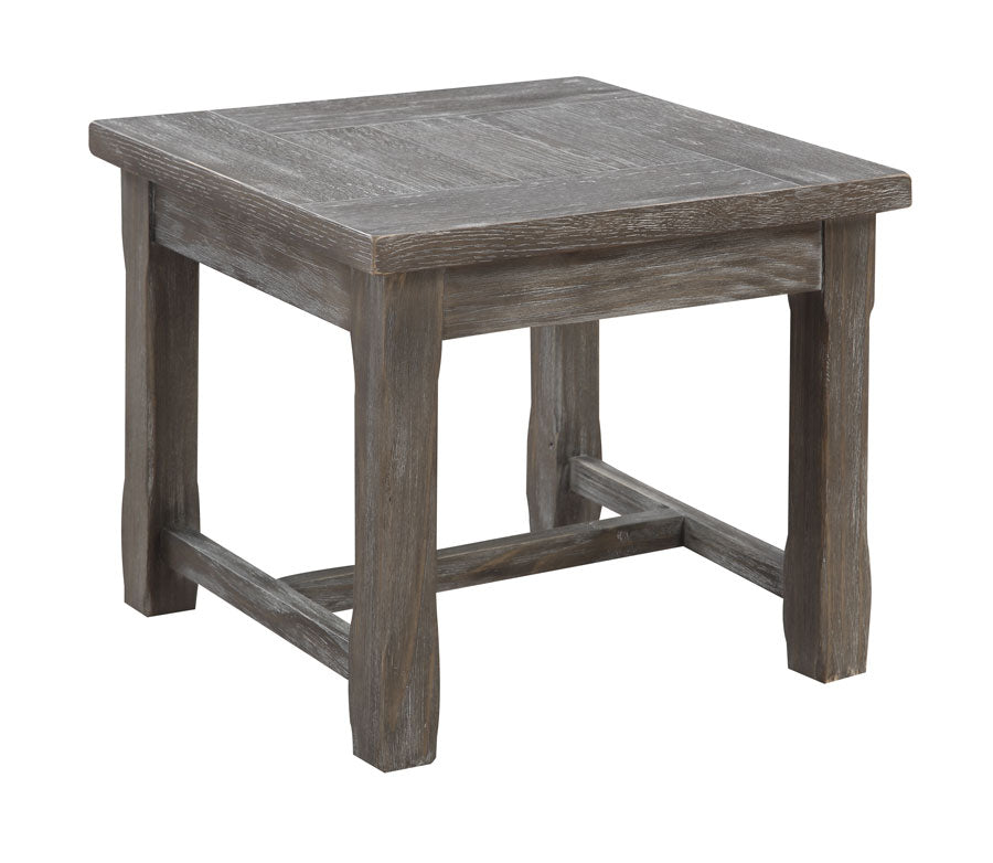 End Table Gray Wood