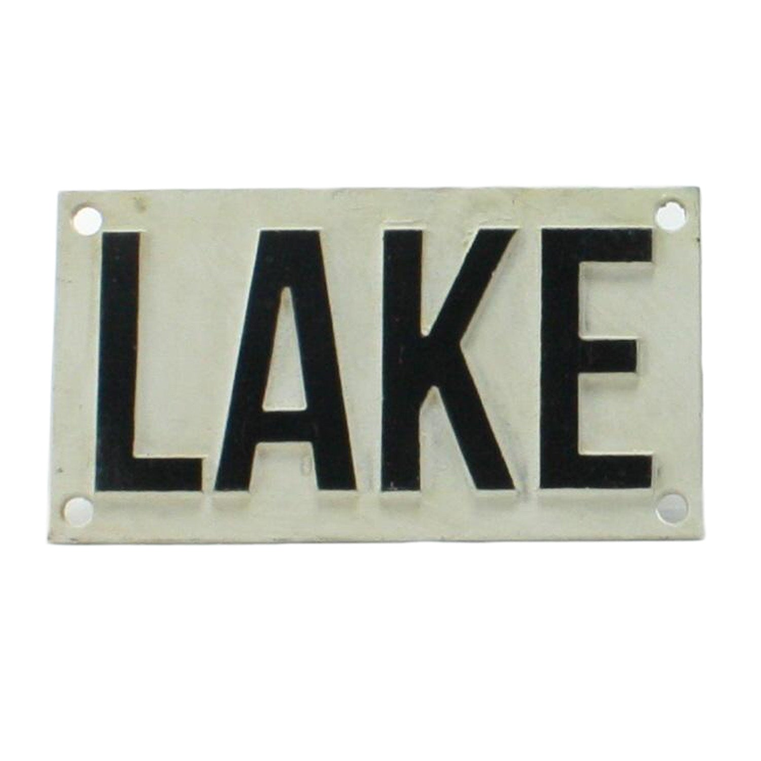 Lake Cast Iron Sign