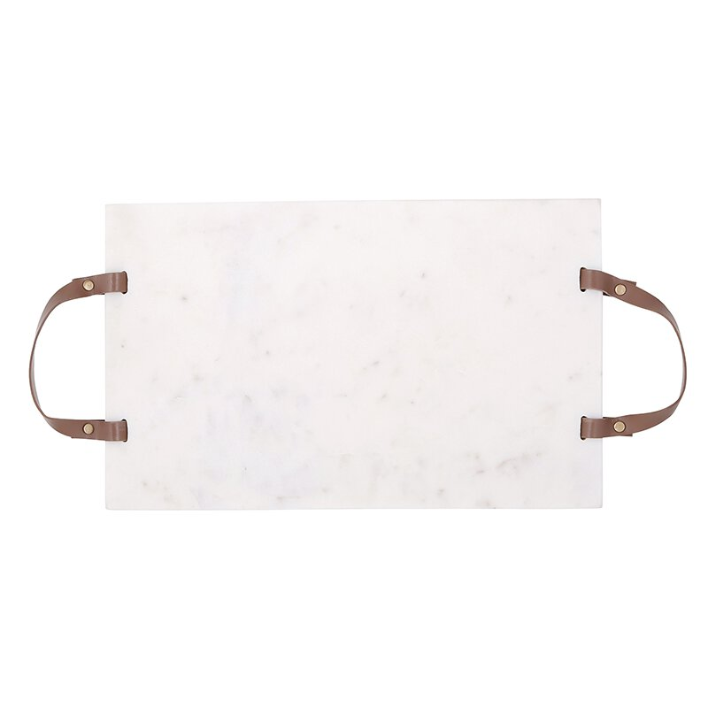 Marble + Leather Serving Board