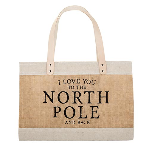 North Pole Mini Market Bag