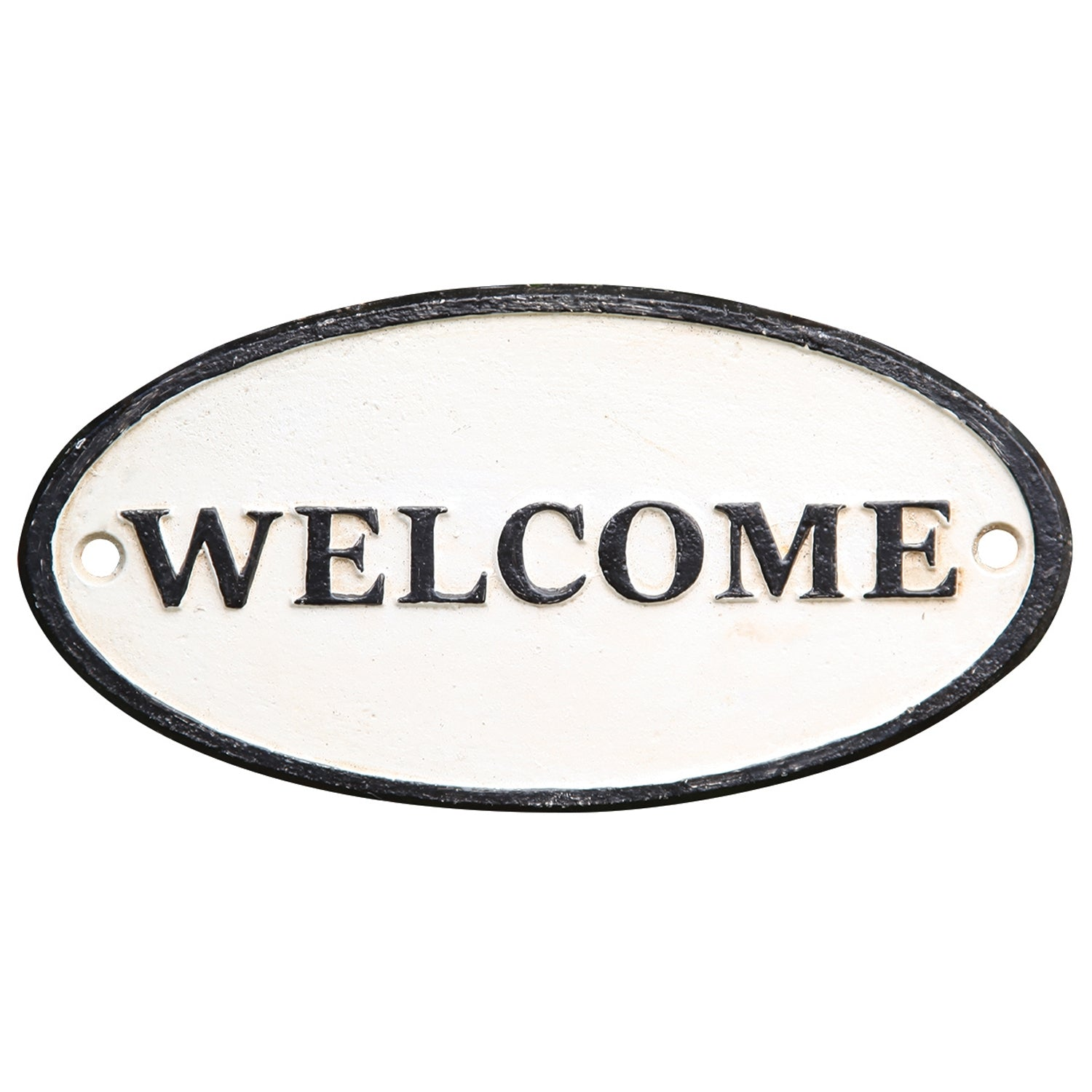 Welcome Oval Sign