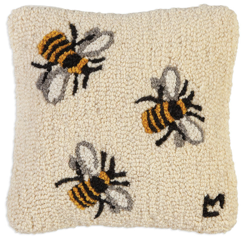 Three Bees | Wool Pillow