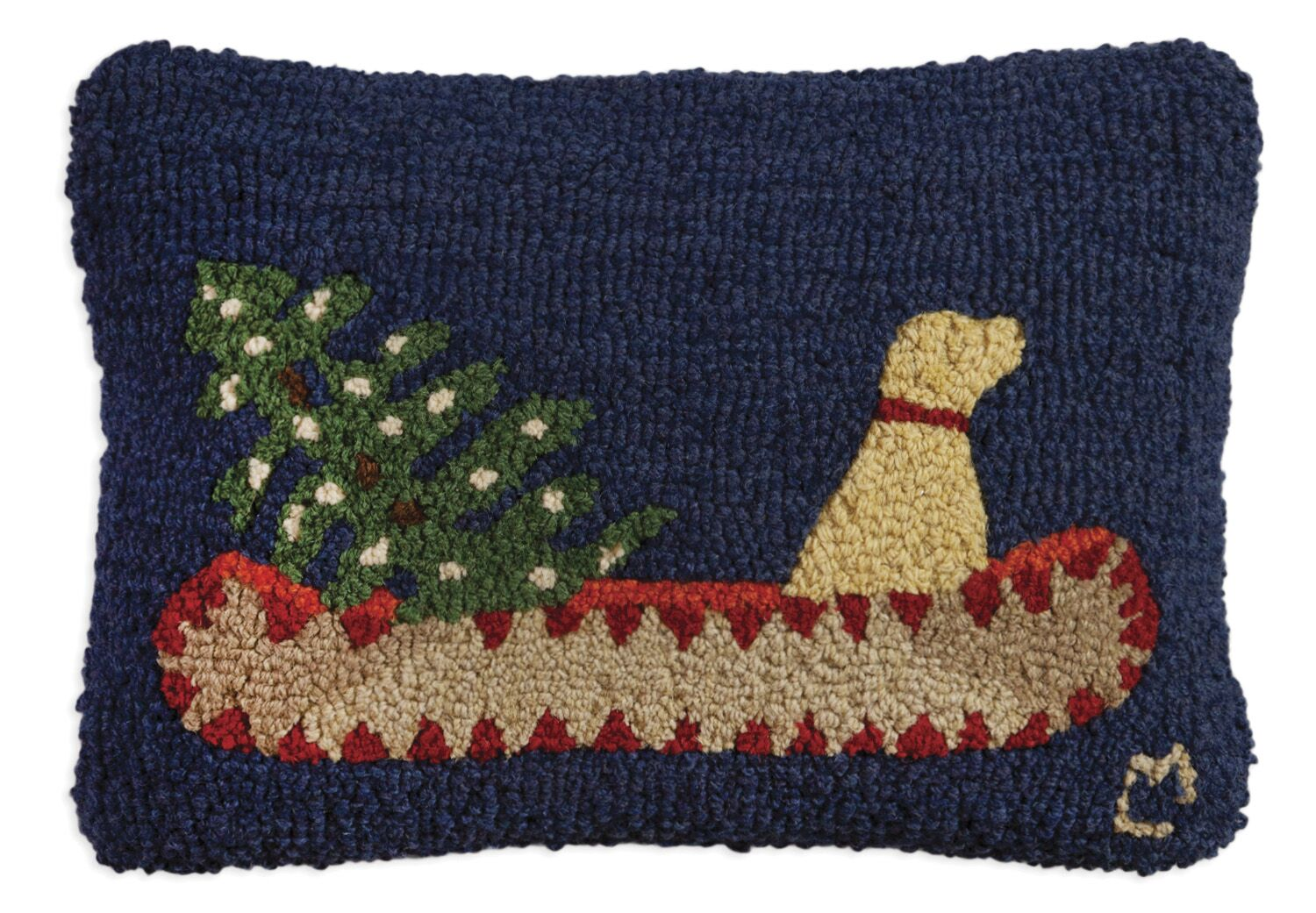 Doggie Express Delivery Wool Pillow