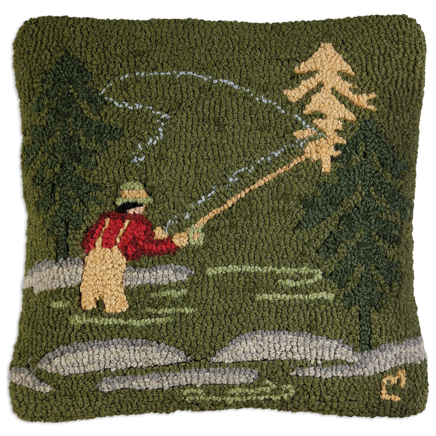 Fly Fisherman | Wool Pillow