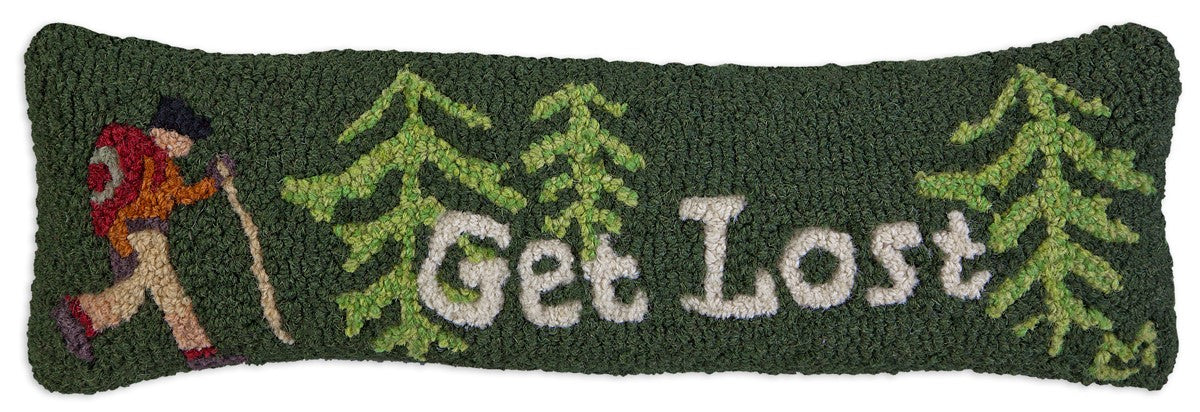 Get Lost Wool Pillow