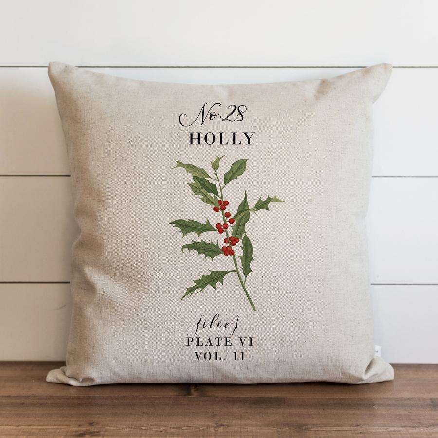 Holly Botanical Pillow