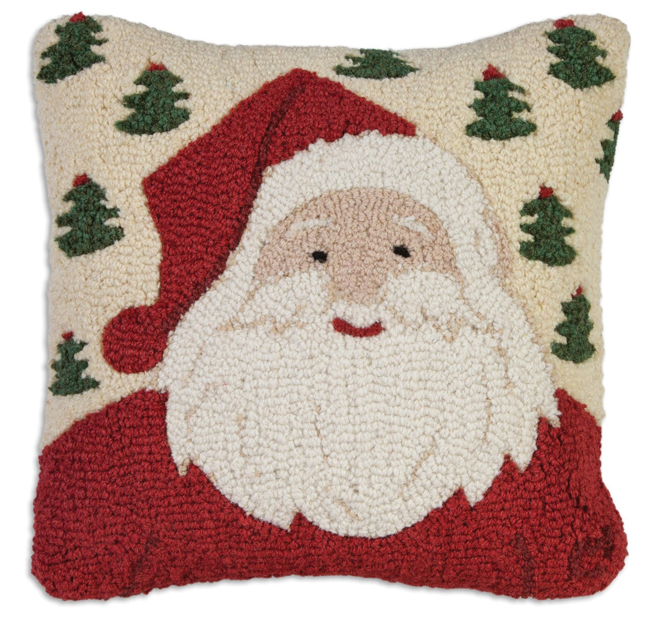 Jolly Ole Santa Wool Pillow