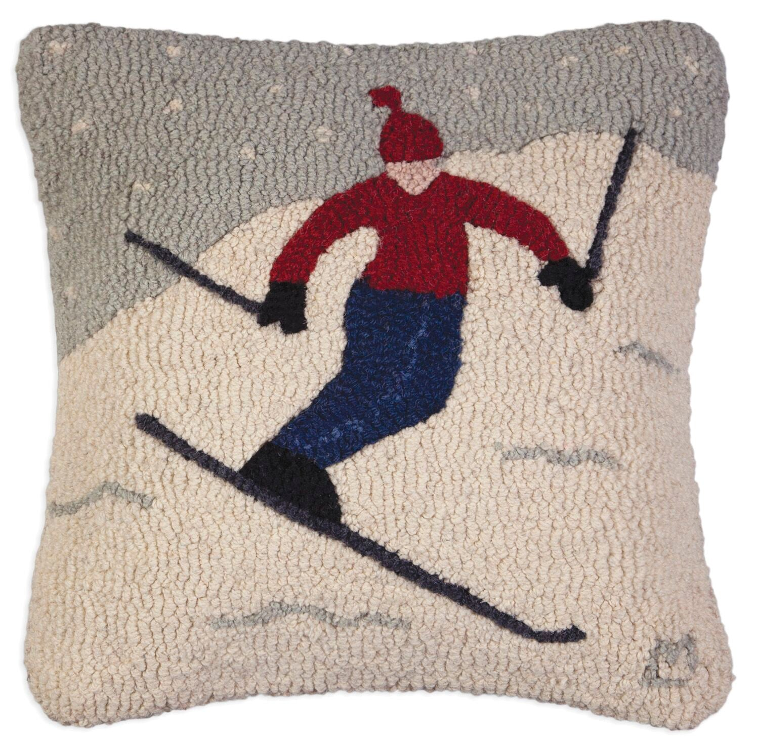 Playday Skier Wool Pillow