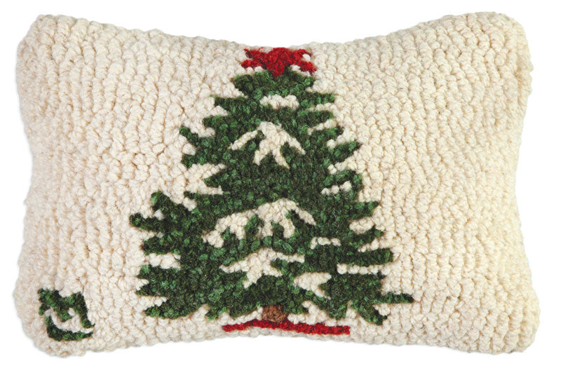 Winter Christmas Tree Wool Pillow